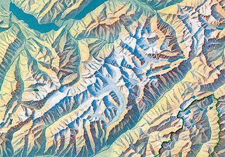 Relief de la Suisse by Imhof (excerpt)