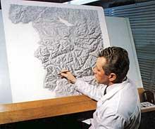 Cartographer at work